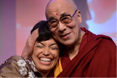Bonnie St. John with the Dalai Lama