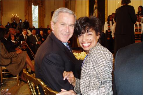 Bonnie St. John with George W. Bush