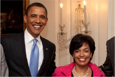 Bonnie St. John with Barack Obama