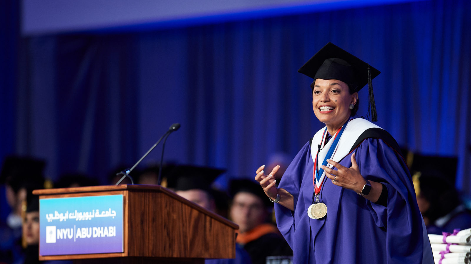 Bonnie St. John at NYU Abu Dhabi's 2019 Commencement